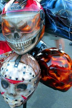 I love hockey mask helmet, but must admit, the skull and true fire are pretty good too!