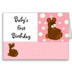 Babys First Birthday Cards