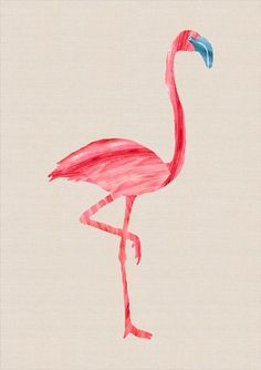 pink flamingo make with paint with same concept as craft wall