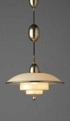 C.F. Otto Muller, Titan Ceiling Light for Sistrah-Licht GmbH, 1930s.