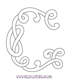 Free Monogram for Hand Embroidery: Celtic G