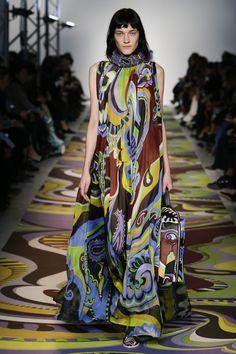 Emilio Pucci Fall 2017 Ready-to-Wear Fashion Show Collection Fashion Moda, Fashion 2017, Runway Fashion, High Fashion, Emilio Pucci, Catwalk Collection, Fashion Show Collection, Style Haute Couture, Couture Fashion