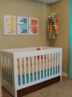 Cute gender neutral nursery!