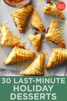 30 Last-Minute Holiday Desserts Pecan Cookies, Peanut Butter Cookies, No Bake Cookies, Chocolate Chip Cookies, Chocolate Malt, Chocolate Dipped, Red Velvet Cookies, Malted Milk, Cookie Tray