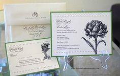 Vintage Fruit and Veggies Wedding Invitations 25 sets on Etsy, $162.50