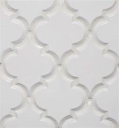 Beveled Arabesque tile - I would love to have this in my kitchen.