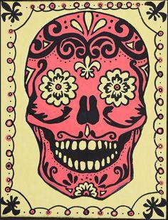 "Beautiful Sugar Skull or ""Calavera"" in Spanish"