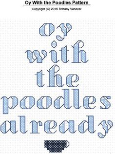 PATTERN Gilmore Girls Oy With The Poodles by WireWeSoCrafty