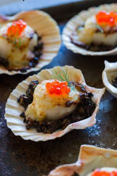 Coquilles Saint-Jacques (Gratinéed Scallops) - food photography by Paul S. Bartholomew.