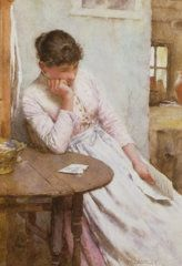 The Letter  Print by Walter Langley