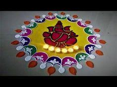 Super Easy and Innovative Ganesh Rangoli Designs Using Bangles| Creative Rangoli by Shital Mahajan. - YouTube