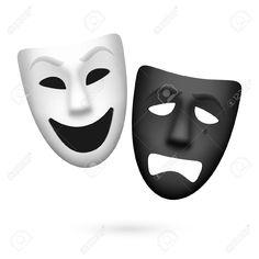 stencil maschere teatrali - Cerca con Google