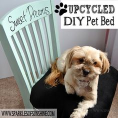 Upcycled DIY Pet Bed From an Old Chair