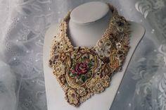 Anweisung Pastell Blumen Perlen Halskette Lace von RoniStatement, $220.00