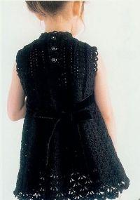 Стильное платье для девочки крючком. Платье крючком для девочки 2-х лет.