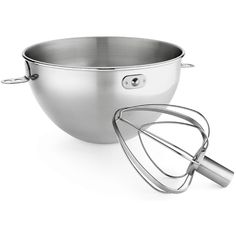2 Piece 3 Qt. Stainless Steel Bowl and Combo Whip Set for Bowl-Lift Stand Mixers