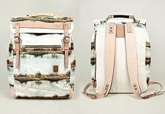 ::: Nowartt for Master-Piece. Landscape print backpack.