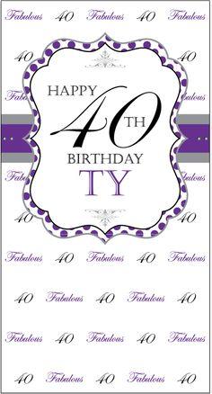 Happy 50th Birthday a Debonair Affair Step and Repeat Banner 21082 ...