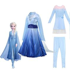Princess Fancy Dress, Disney Princess Dresses, Frozen 2 Elsa Dress, Frozen Outfits, Anna Y Elsa, Elsa Cosplay, Frozen Costume, Anna Dress, Take Home Outfit