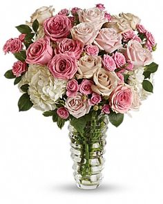 These roses are gorgeous! I love the variety of pink. These would look beautiful on my kitchen table!