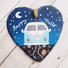 Your place to buy and sell all things handmade Painted Slate, Hand Painted, Bedroom Themes, Diy Bedroom Decor, Campervan Gifts, Midnight Sky, Painted Letters, Happy Trails