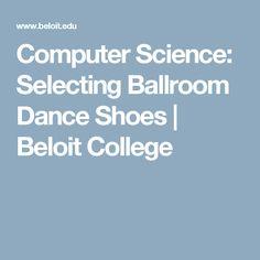 Computer Science: Selecting Ballroom Dance Shoes | Beloit College