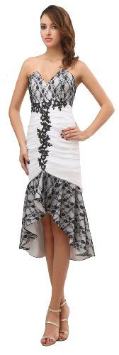 herafa p31424-18 Cocktail Dresses Elegant Spaghetti Straps Sleeveless Rows of Lace Delicate Beading Knee-Long Sheath White herafa http://www.amazon.co.uk/dp/B00BPSPEZW/ref=cm_sw_r_pi_dp_NrNlvb1QCW8Q6