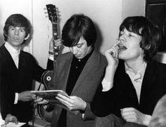 "heresjohnnyinmymind: ""Keith Richards, Charlie Watts & Mick Jagger """