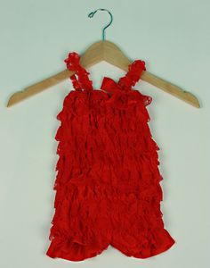 Red Ruffle Lace Rompers with Straps - Sweet N' Stylish Kids Accessories. Cake Smash Session, Photo shoot, dress up, Christmas Photo Session.