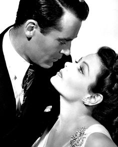 """loves-of-a-blonde: """" Gene Tierney and Henry Fonda for Rings on her Fingers (1942) """""""