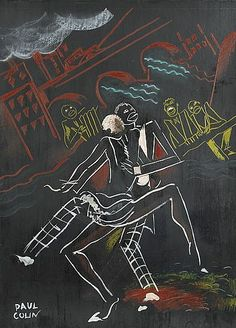 By Paul Colin (1892-1986), ca 1960, Dancing couple. (F)