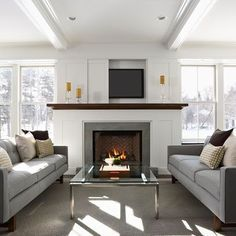 living rooms with fireplace and TV | Living Room TV above fireplace Design Ideas, Pictures, Remodel and ...