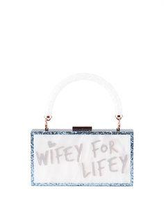 Sophia Webster Cleo Wifey-For-Lifey Box Clutch Bag | Neiman Marcus