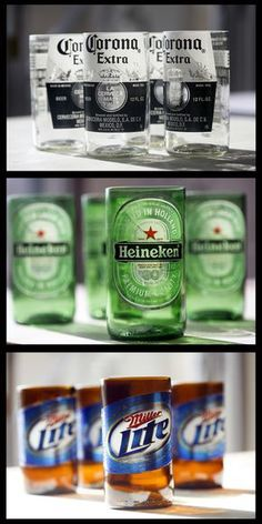 5 Easy Steps To Perfectly Cut Old Bottles For Those Great DIY Crafts! bottle crafts easy 5 Easy Steps To Perfectly Cut Old Bottles For Those Great DIY Crafts! Beer Bottle Crafts, Beer Crafts, Diy And Crafts, Arts And Crafts, Beer Bottle Cups, Beer Bottle Glasses, Pickle Jar Crafts, Beer Bottle Lights, Alcohol Bottle Crafts