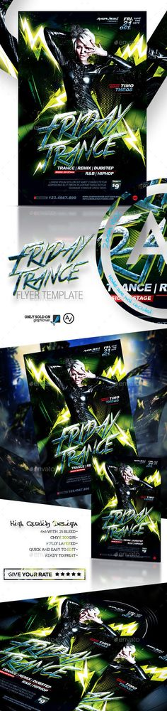 Friday Trance Flyer Template