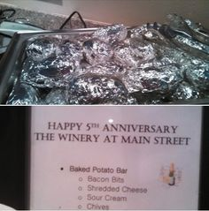 Happy 5th Anniversary! Let's celebrate with some catering.