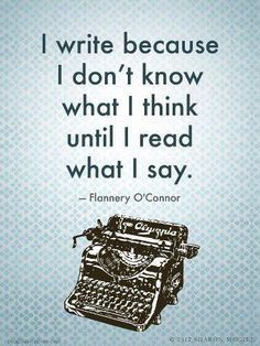 Celebrate Quotes: I write because I don't know what I think until I read what I say. ― Flannery O'Connor ~~~~~~~~~~~~~~~~~~~~~~~~~~~~~~~~~~~~~~~~~~~ Facebook: https://www.facebook.com/celebratequotes Google+ http://gplus.to/CelebarateQuotes Twitter: https://twitter.com/celebratequotes ~~~~~~~~~~~~~~~~~~~~~~~~~~~~~~~~~~~~~~~~~~