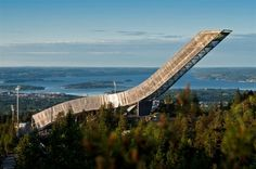 The famous Alpine resort of #Holmenkollen, and its new ski jump platform. #Oslo #Norway #visitoslo @Patricia Nickens Derryberry Norway