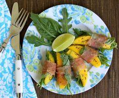 Mango, Prosciutto, Basil, Arugula & Lime Wraps