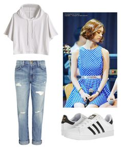 """""""Bo Mi's casual wear"""" by pantsulord on Polyvore featuring Current/Elliott and adidas"""