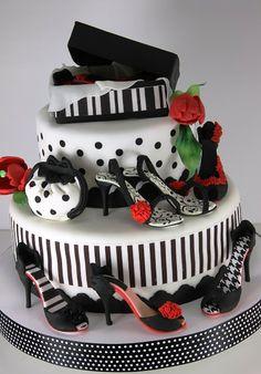 vioricas cakes: Torturi cu tema fashion Pretty Cakes, Cute Cakes, Beautiful Cakes, Yummy Cakes, Amazing Cakes, Crazy Cakes, Fancy Cakes, Pink Cakes, Unique Cakes