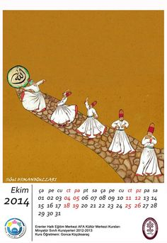 Islamic mysticism. Whirling dervishes. Islamic Paintings, Old Paintings, Indian Paintings, Whirling Dervish, Drawing Sketches, Drawings, Islam Facts, Islamic Calligraphy, Love Art