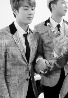 """This looks like a marriage scene. """"Do you, Kim Seokjin, accept Kim Namjoon to be your lawfully wedded husband?"""" """"I do."""" """"Do you, Kim Namjoon, accept Kim Seokjin to be your lawfully wedded husband?"""" """"I do."""" """"Then by the power vested in me by the KPOP fandom, I hereby pronounce you married. You may kiss your husband."""""""