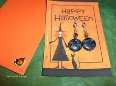 Halloween Earings and Gift Card by SouthamptonCreations on Etsy, $4.00