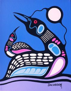 Canadian First Nations Artist Mark Anthony Jacobson, Shemanic Artist of the Contemporary Woodland Art Movement Native American Artwork, Native American Artists, American Indian Art, Inuit Kunst, Inuit Art, Illustrations, Illustration Art, Kunst Der Aborigines, Woodland Art