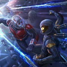Ant-man vs yellowjacket by Andy Park.