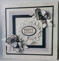 The middle of the trellis edger forms the frame, then the tags from the Pacific ocean collection are in the middle and the nasturtium flowers finish off the card.