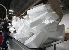 solución para el transporte y el almacenamiento de Greenmax reciclaje de espuma de poliestireno