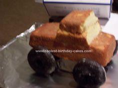 Monster Truck Cake For Boys 70 Super Ideas Cars Cake Pops, Truck Cupcakes, Mini Cakes, Cupcake Cakes, Blaze Cakes, Monster Truck Birthday Cake, Cool Birthday Cakes, Blaze Birthday Cake, 4th Birthday