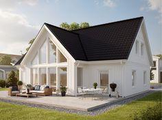 Huset Kärngården är ett 1,5-planshus med mycket ljus och rymd. Bygger du det här huset från Myresjöhus får du både flexibilitet och utrymme.